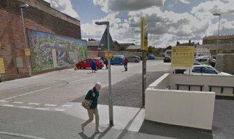 The car park at the former Webster's Garage site in Axminster. Image: Google Maps