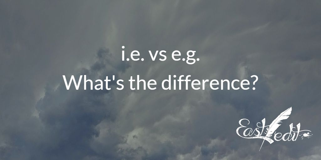 Banner image: i.e. vs e.g.