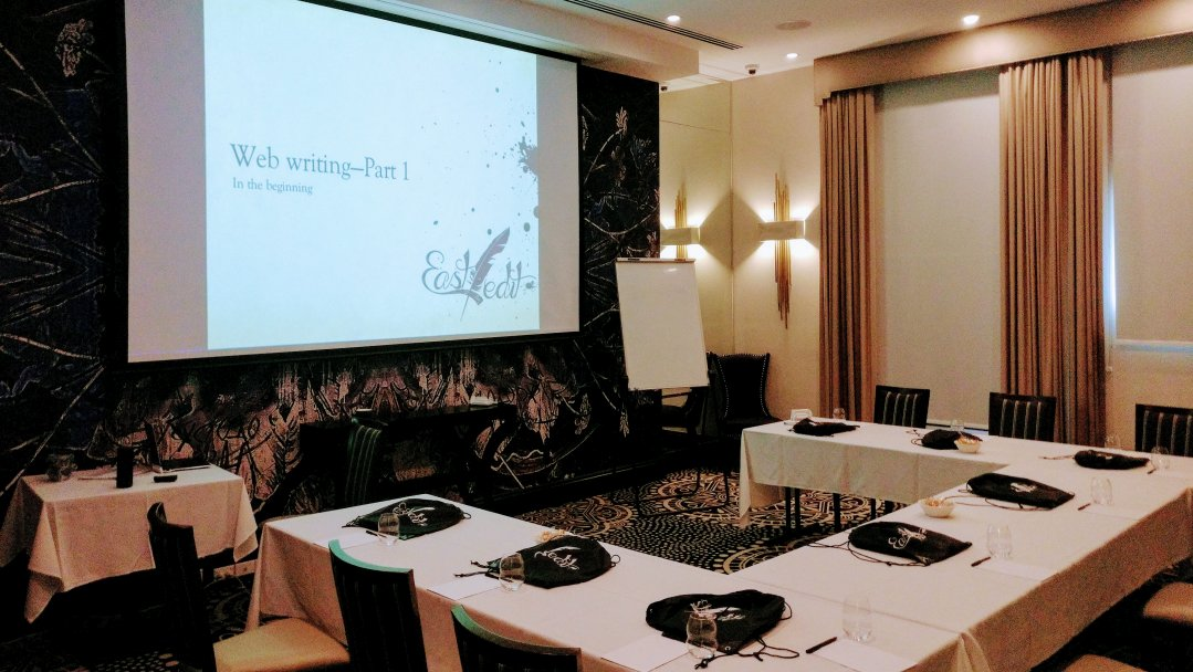 Web writing course room