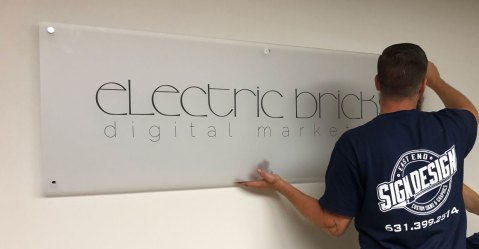 Electric Bricks office signage