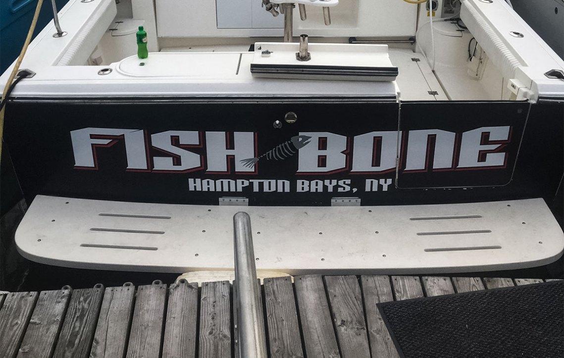fish bone hampton bays boat wrap