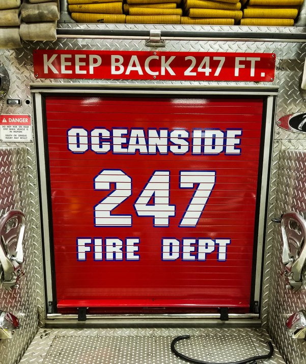 oceanside fire department truck decal