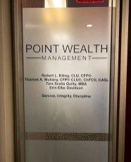 point wealth management door lettering