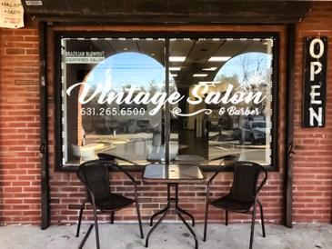 vintage salon storefront