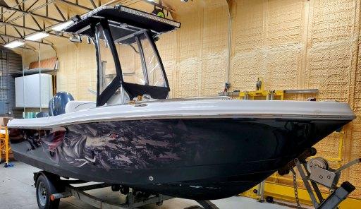 Center Console Boat wrap