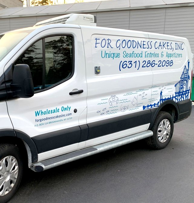 Goodness Cakes vehicle lettering