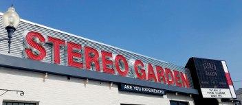 Stereo Garden exterior signage