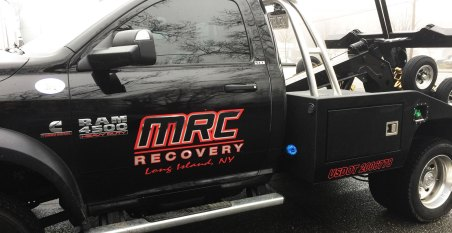 mrc recovery truck lettering