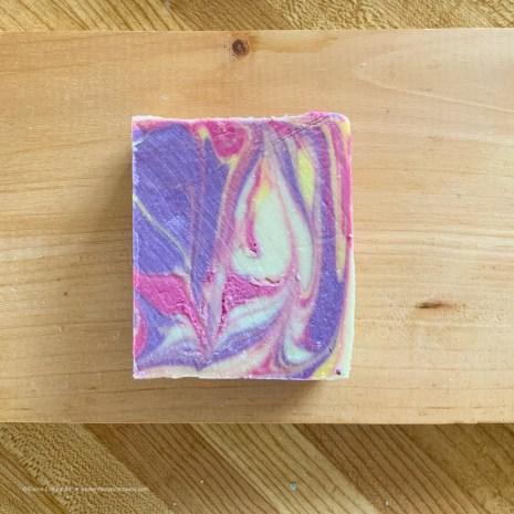 Colorful bath soap