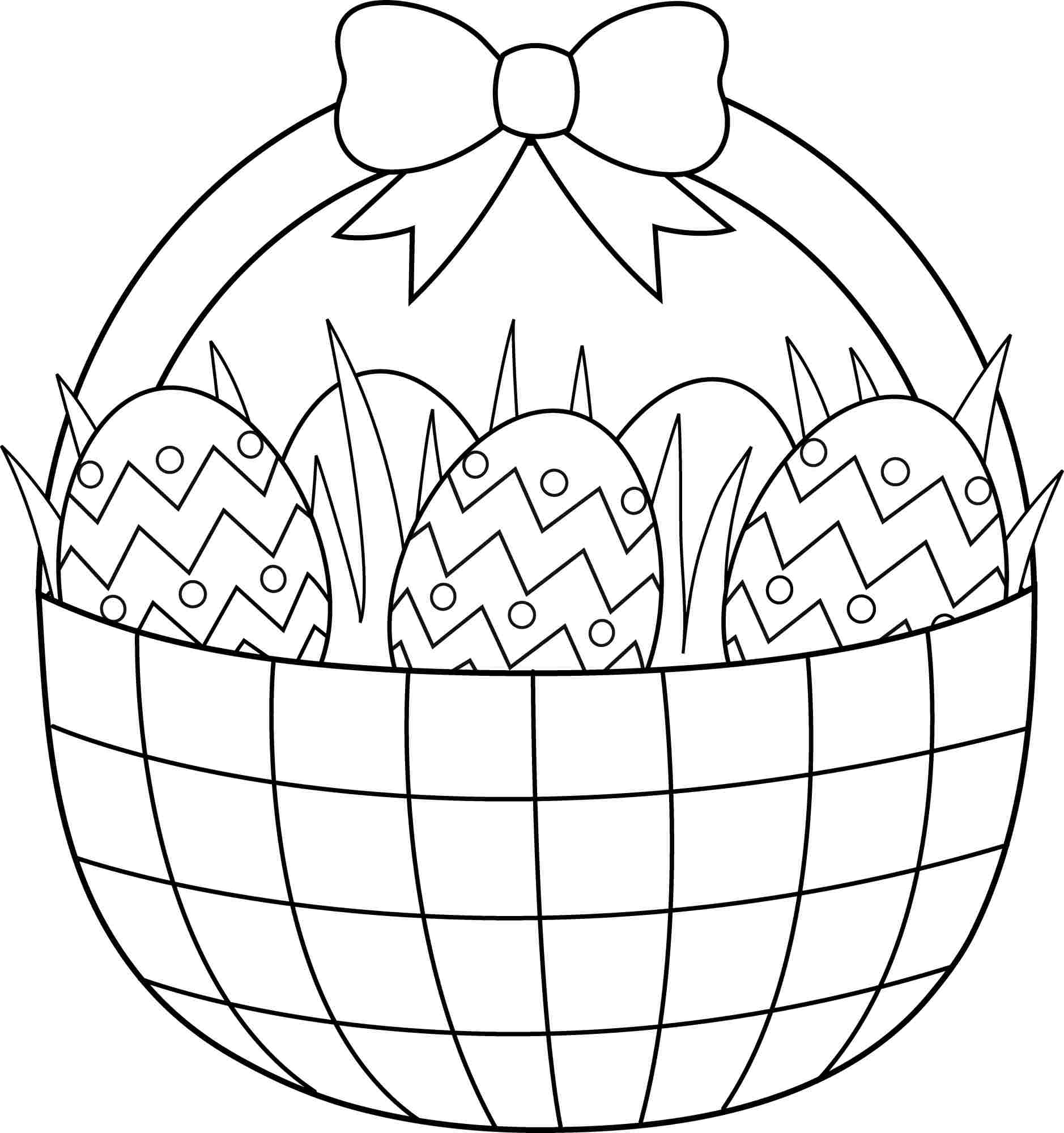 Easter Basket Printable Coloring Pages Empty Easter Basket Coloring Page 2 The Easter Bunny Org