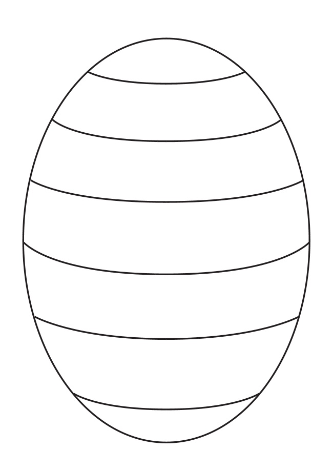 Easter Egg Outline Template The Easter Bunny Org