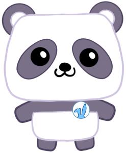 Panda Bear Easter Bunny Little