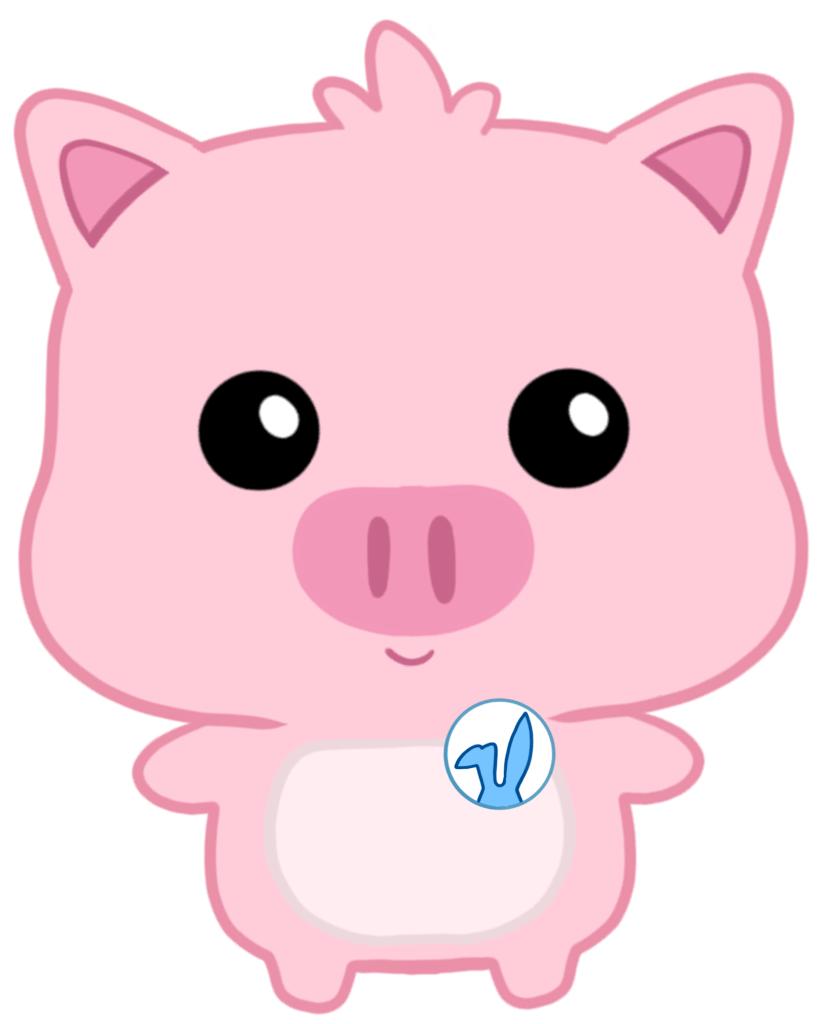 Pig Easter Bunny Little