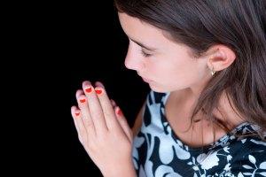 Hispanic Girl Praying