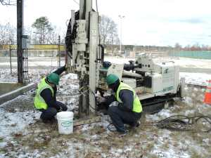 Geoprobe 6610 drilling rig subsurface investigation testing