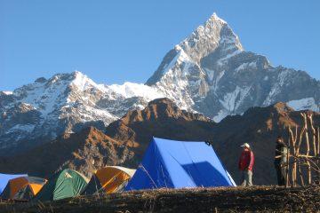 Machhapuchre mountain from pokhara nepal