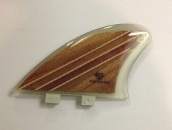 Rainbow Woody Twin Fin Keel