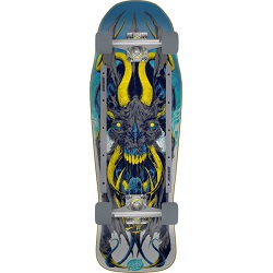 """Sidewalk surfing has never been better than with the Santa Cruz Skateboards Erick Winkowski Primeval 80's Cruzer Cruiser Complete Skateboard - 10.34"""" x 31.75""""! This high quality Santa Cruz cruiser measures 10.34"""" wide x 31.75"""" long and is super easy to carry. Open the box and get ready to slay the streets ASAP with this Santa Cruz Skateboards pre-assembled cruiser board which includes trucks, wheels, bearings, hardware, and grip tape. Features: One (1) Santa Cruz Skateboards Erick Winkowski Primeval 80's Cruzer Cruiser Complete Skateboard from Santa Cruz Deck Size: 10.34"""" x 31.75"""" Wheelbase: 15"""" Bullet 185mm trucks Santa Cruz Slimeline Rails OJ 60mm Super Juice wheels Abec 3 bearings Factory assembled by Santa Cruz and ready to skate Includes trucks, wheels, bearings, hardware, and grip tape 100% guaranteed authentic"""