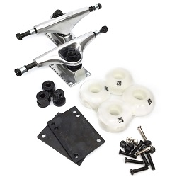 Essential Component Kit Sil Trucks Wht Wheels