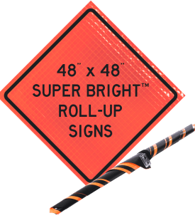 super bright roll up traffic safety sign