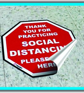 covid, floor decal, elmira ny, stickers, flu safety