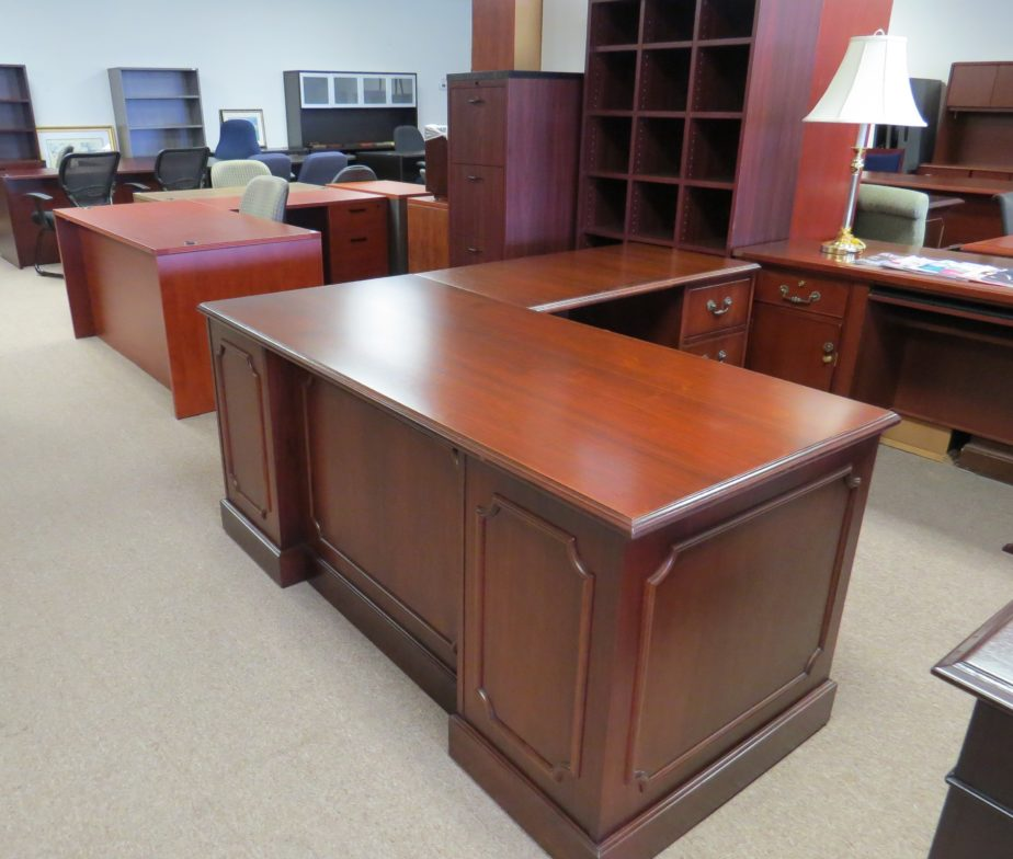 Right Hand L Desk By Indiana Furniture Refinished Eastern Office