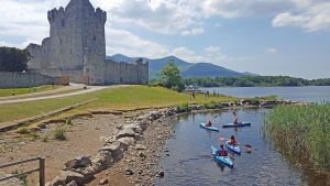 Ross Castle. The day we visited Ross Castle and did some light hiking in Killarney National Park was phenomenal. Our guide for the tour of the Tower House was great and the tour was fascinating.