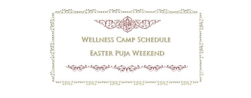 Daily Programs for Wellness Camp and Easter Weekend