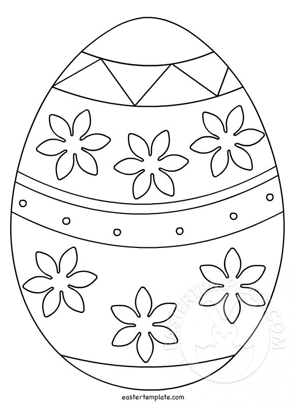 Printable Easter Egg Template Easter Template