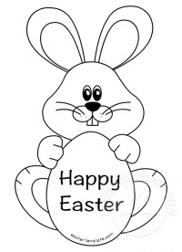 Easter rabbit template merry christmas and happy new year 2018 easter rabbit template negle Choice Image