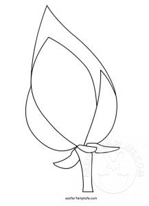 Easter Flowers Template Easter Template