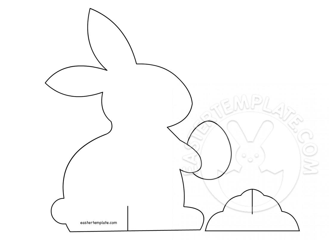 3d Paper Bunny Decoration Printable