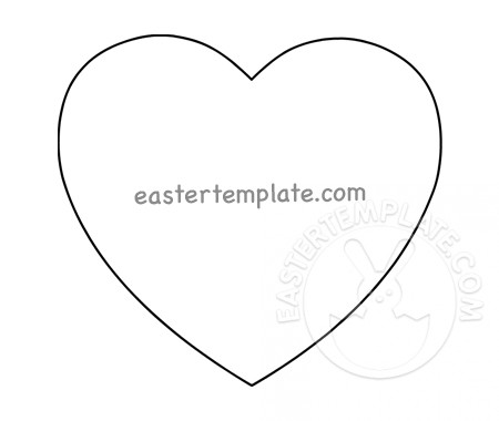Heart Shape Outline Printable Easter Template