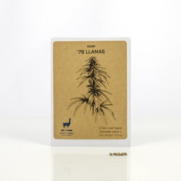 East Fork Cultivars '78 Llamas Hemp Feminized Seeds