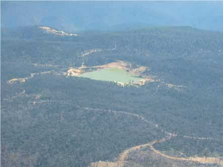 The endangered montane swamp complex – now destroyed under the mine site
