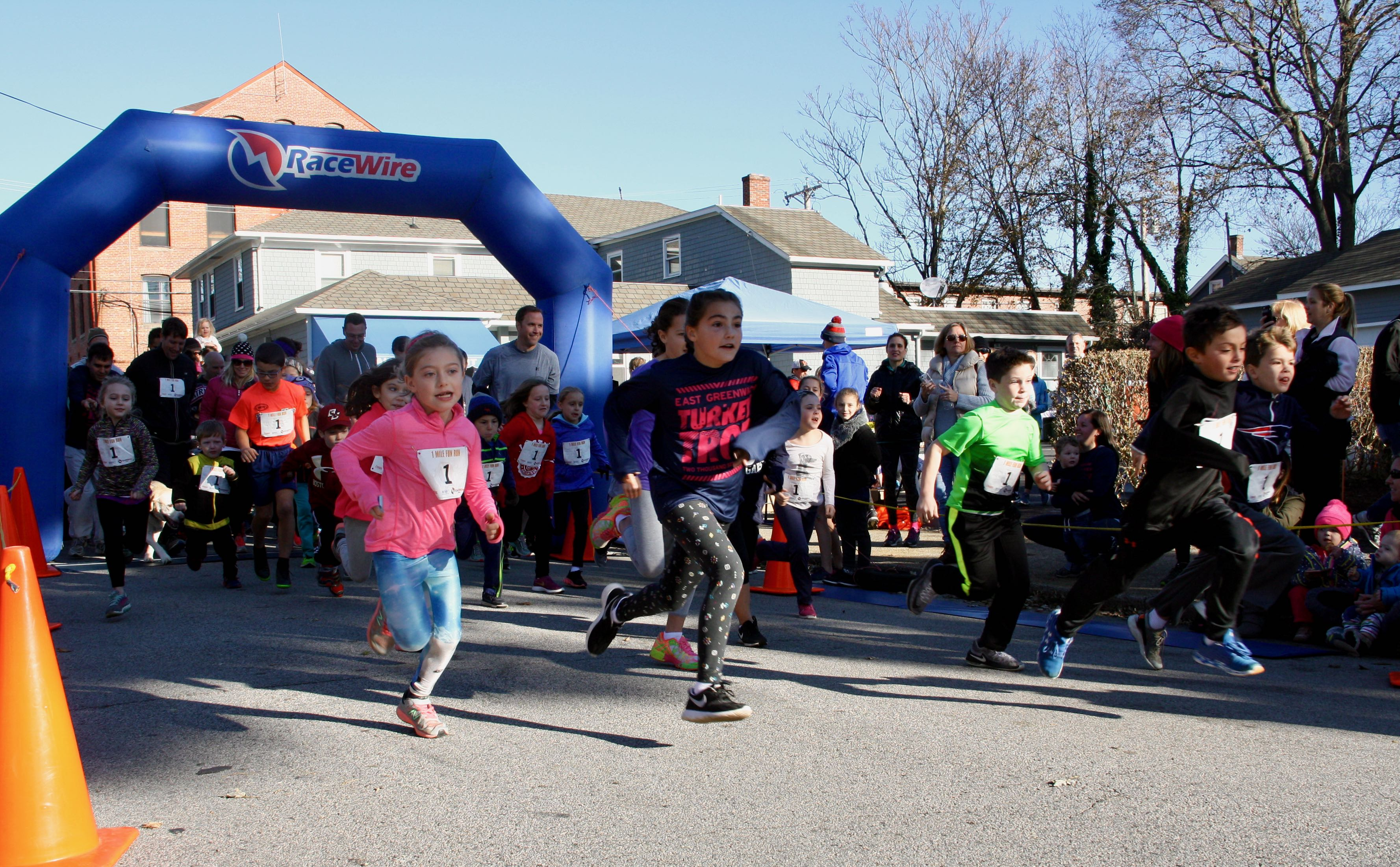 Go! The start of the EG Turkey Trot fun run.