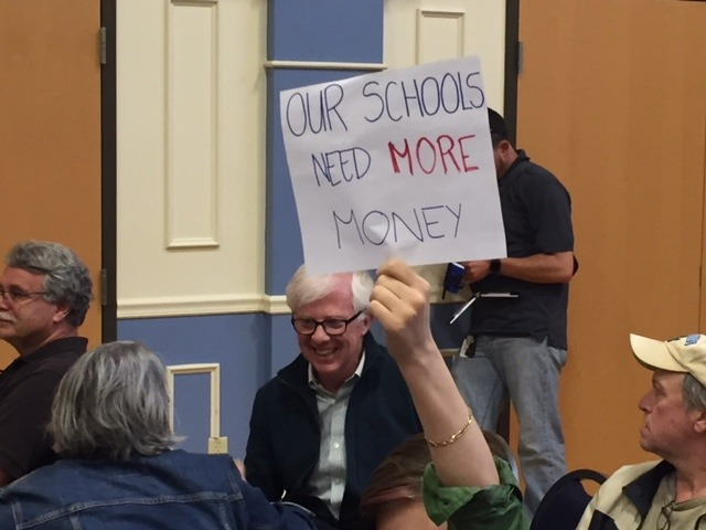 Corrigan Paints Bleak Budget Picture; School Officials Urge More Funding