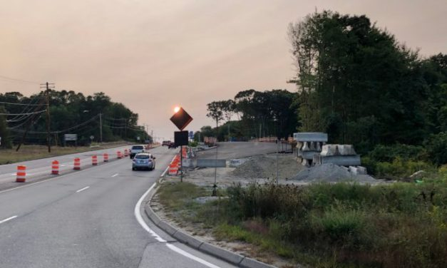 Works Resumes on Temporary Division St. Bridge