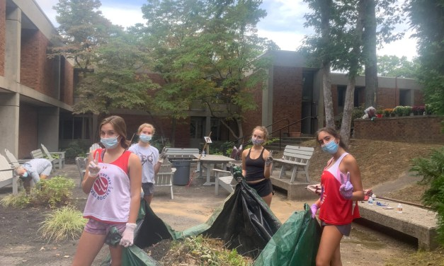 Students, Staff Spruce Up EGHS Courtyard