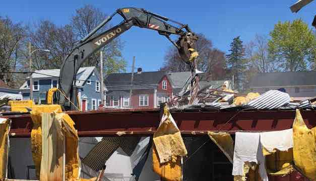 Warehouse Demolition Makes Way for Townhouses