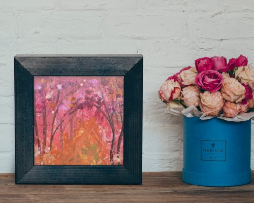 Abstract Pink Aspens