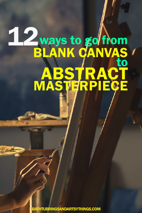 Abstract painting can be tough! These 12 helpful abstract painting techniques will help you go from blank canvas to masterpiece in no time!