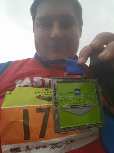 Endure 24 - James Braithwaite with finishes medal