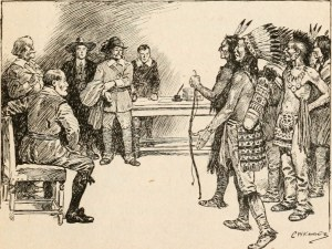 Native Americans in a colonial court