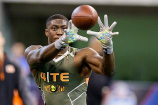 Anthony Denham NFL Combine AP Photo/Michael Conroy