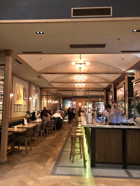modern european restaurant in fitzrovia