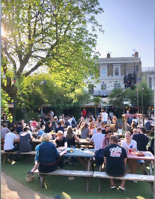 restaurants with outdoor seating in East London