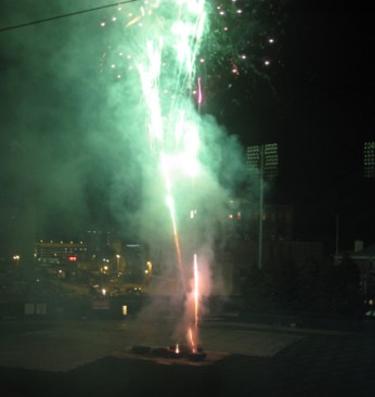 Fireworks after the Redbirds game