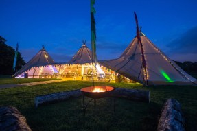 Tipi in our Secret Garden