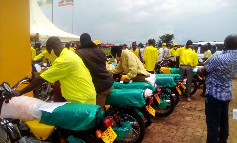 Photo of Sironko NRM Sub County Chairpersons Receive Motorcycles